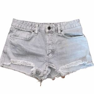 Free People High Waisted Denim Jean Shorts